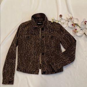 William Rast cheetah jacket
